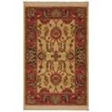 Karastan Rugs Ashara 2'6x4' Agra Ivory Rug - Item Number: 00549 15005 030048