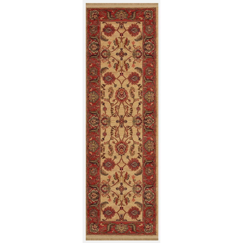 Karastan Rugs Ashara 2'6x8' Agra Ivory Rug Runner - Item Number: 00549 15005 030096