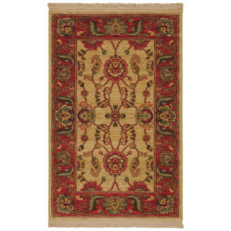 Karastan Rugs Ashara 8'8x10' Agra Ivory Rug - Item Number: 00549 15005 104120