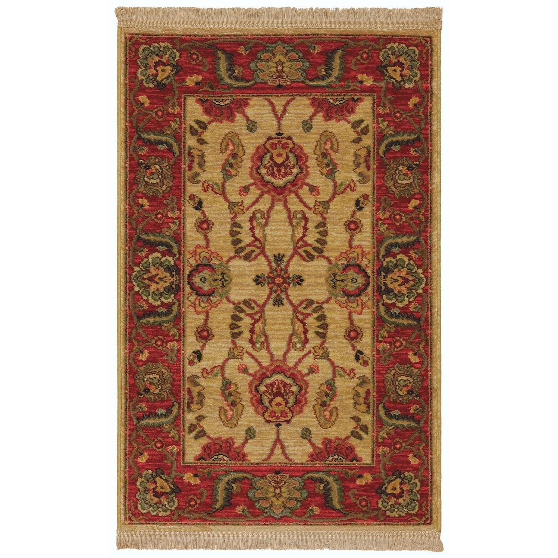 Karastan Rugs Ashara 8'8x12' Agra Ivory Rug - Item Number: 00549 15005 104144