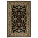 Karastan Rugs Ashara 4'3x6' Agra Black Rug - Item Number: 00549 15006 051072
