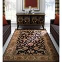 Karastan Rugs Ashara 4'3x6' Agra Black Rug