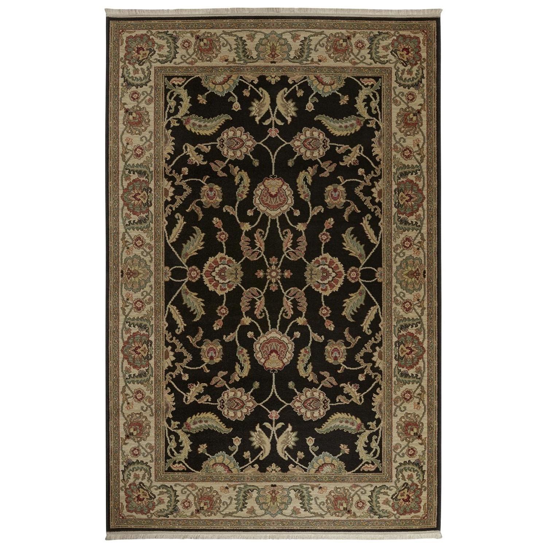 Karastan Rugs Ashara 5'9x9' Agra Black Rug - Item Number: 00549 15006 069108