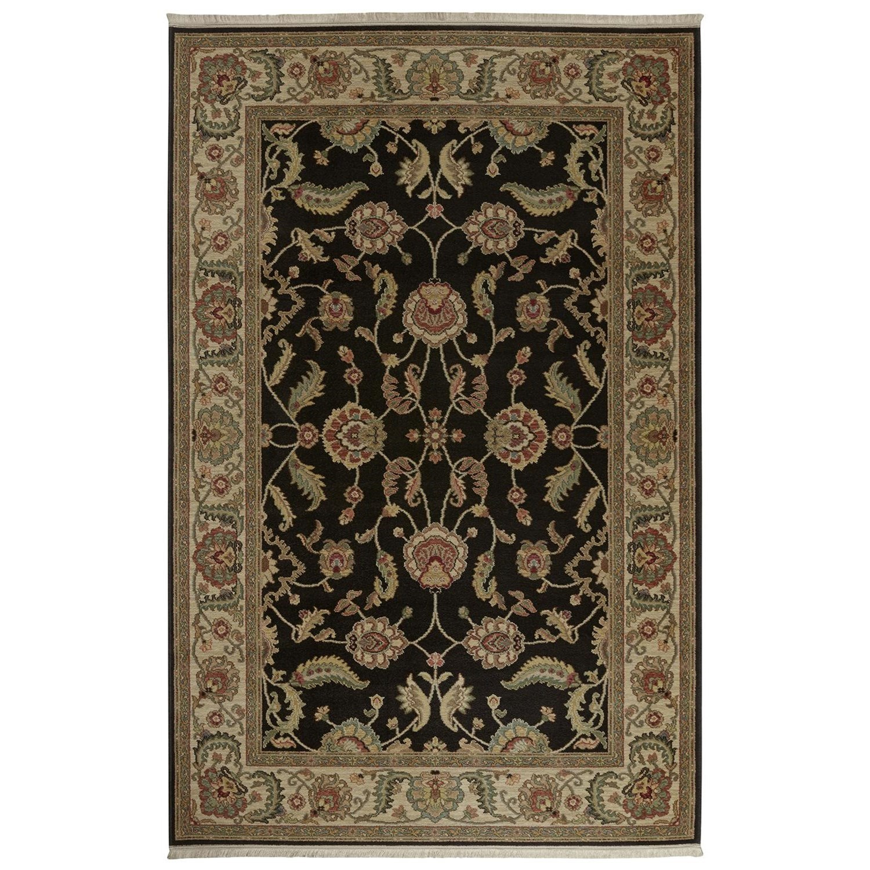 Karastan Rugs Ashara 10'x14' Agra Black Rug - Item Number: 00549 15006 120168