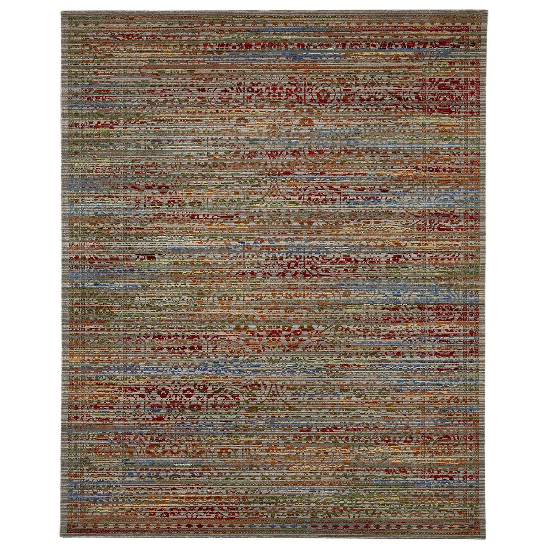 Karastan Rugs Bravado 5'6x8' Shah Gray Rug - Item Number: RG817 0011 066096