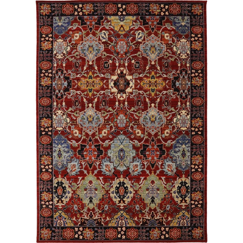 Karastan Rugs Bravado 5'6x8' Mahir Red Rug - Item Number: RG817 147 066096
