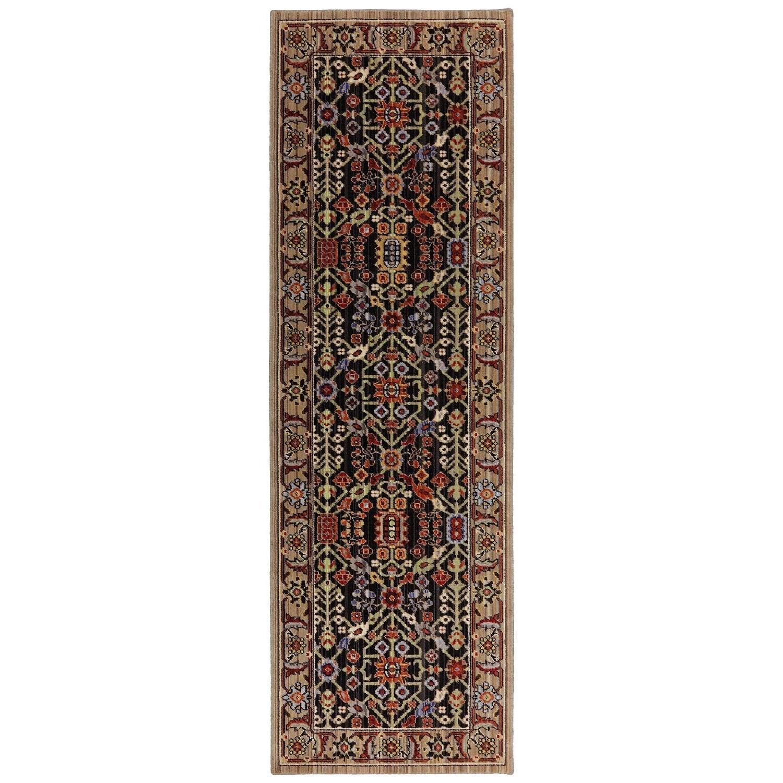 Karastan Rugs Bravado 2'6x8' Turan Black Rug Runner - Item Number: RG817 749 030096