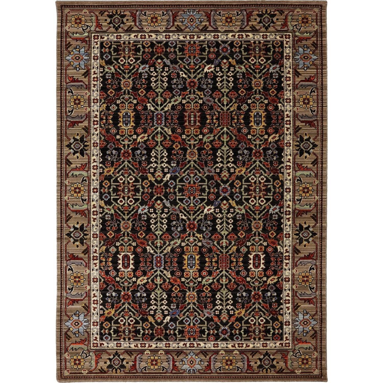 Karastan Rugs Bravado 5'6x8' Turan Black Rug - Item Number: RG817 749 066096