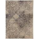 "Karastan Rugs Cosmopolitan 5' 3""x7' 10"" Rectangle Ornamental Area Rug - Item Number: 90954 50134 063094"