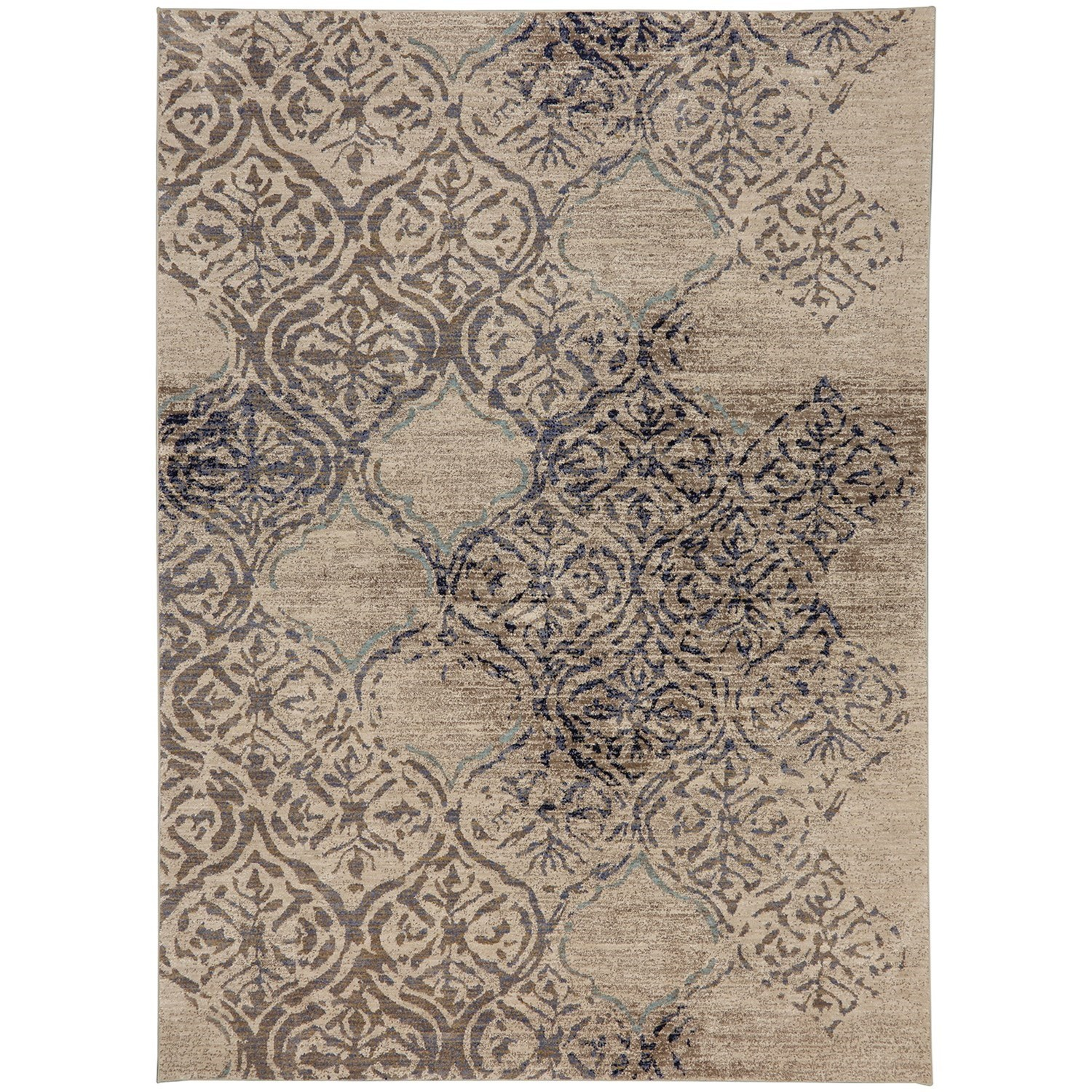"9' 6""x12' 11"" Rectangle Ornamental Area Rug"