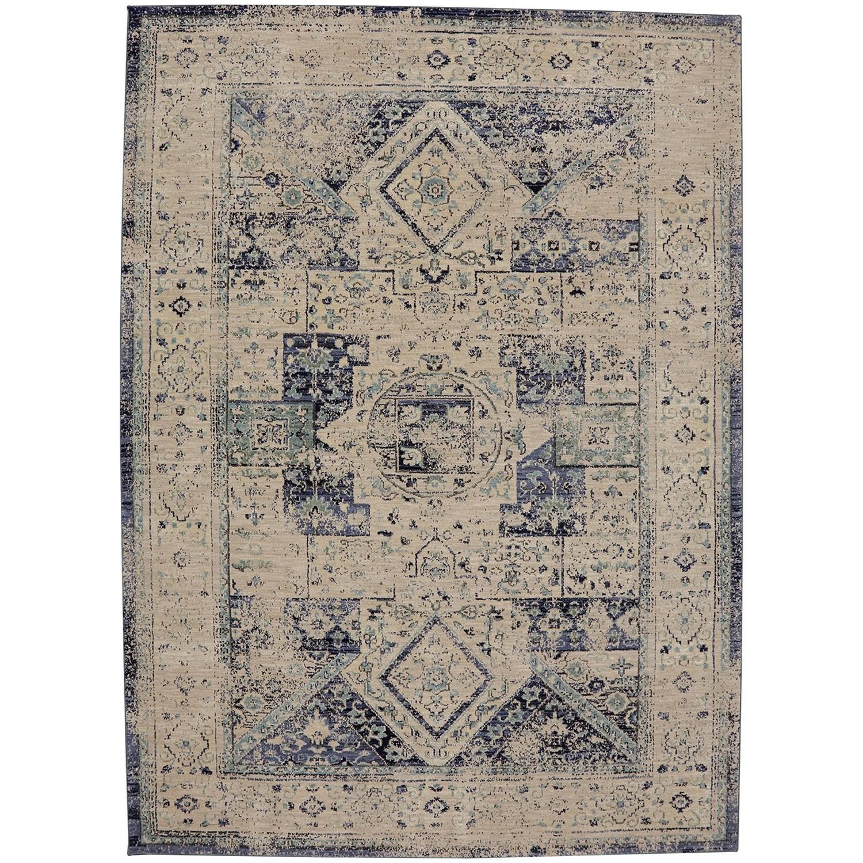 """9' 6""""x12' 11"""" Rectangle Ornamental Area Rug"""
