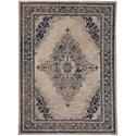 Karastan Rugs Cosmopolitan 8'x11' Rectangle Ornamental Area Rug - Item Number: 90961 50134 096132