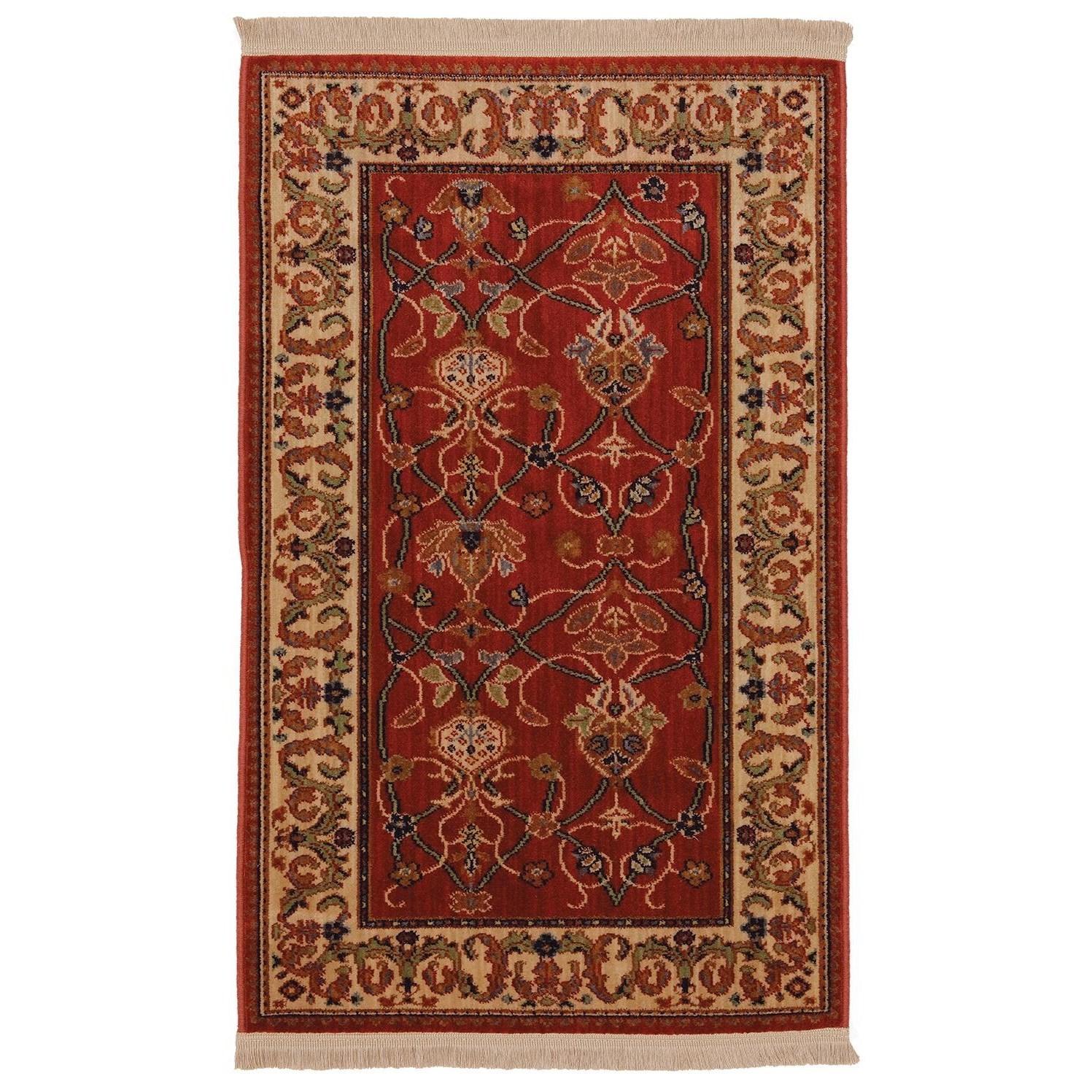 Karastan Rugs English Manor 2'6x4' William Morris Red Rug - Item Number: 02120 00510 030048