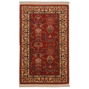 2'6x12' William Morris Red Rug Runner