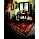 Karastan Rugs English Manor 2'6x12' William Morris Red Rug Runner