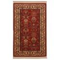 Karastan Rugs English Manor 3'8x5' William Morris Red Rug - Item Number: 02120 00510 044060