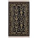 Karastan Rugs English Manor 2'6x4' William Morris Black Rug - Item Number: 02120 00514 030048