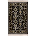 Karastan Rugs English Manor 3'8x5' William Morris Black Rug - Item Number: 02120 00514 044060