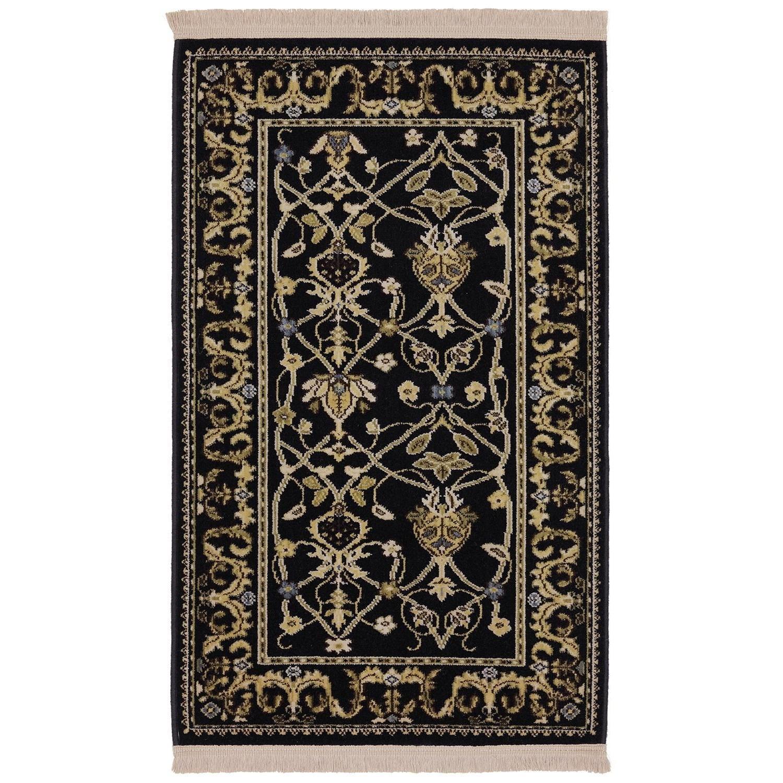 Karastan Rugs English Manor 5'7x7'11 William Morris Black Rug - Item Number: 02120 00514 067095