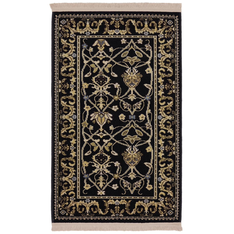 Karastan Rugs English Manor 8'6x11'6 William Morris Black Rug - Item Number: 02120 00514 102138