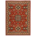 Karastan Rugs English Manor 2'6x4' Manchester Red Rug - Item Number: 02120 00601 030048