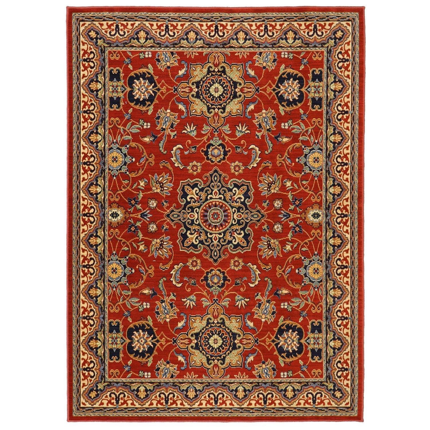 Karastan Rugs English Manor 9'2x13' Manchester Red Rug - Item Number: 02120 00601 110156