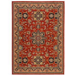 9'2x13' Manchester Red Rug