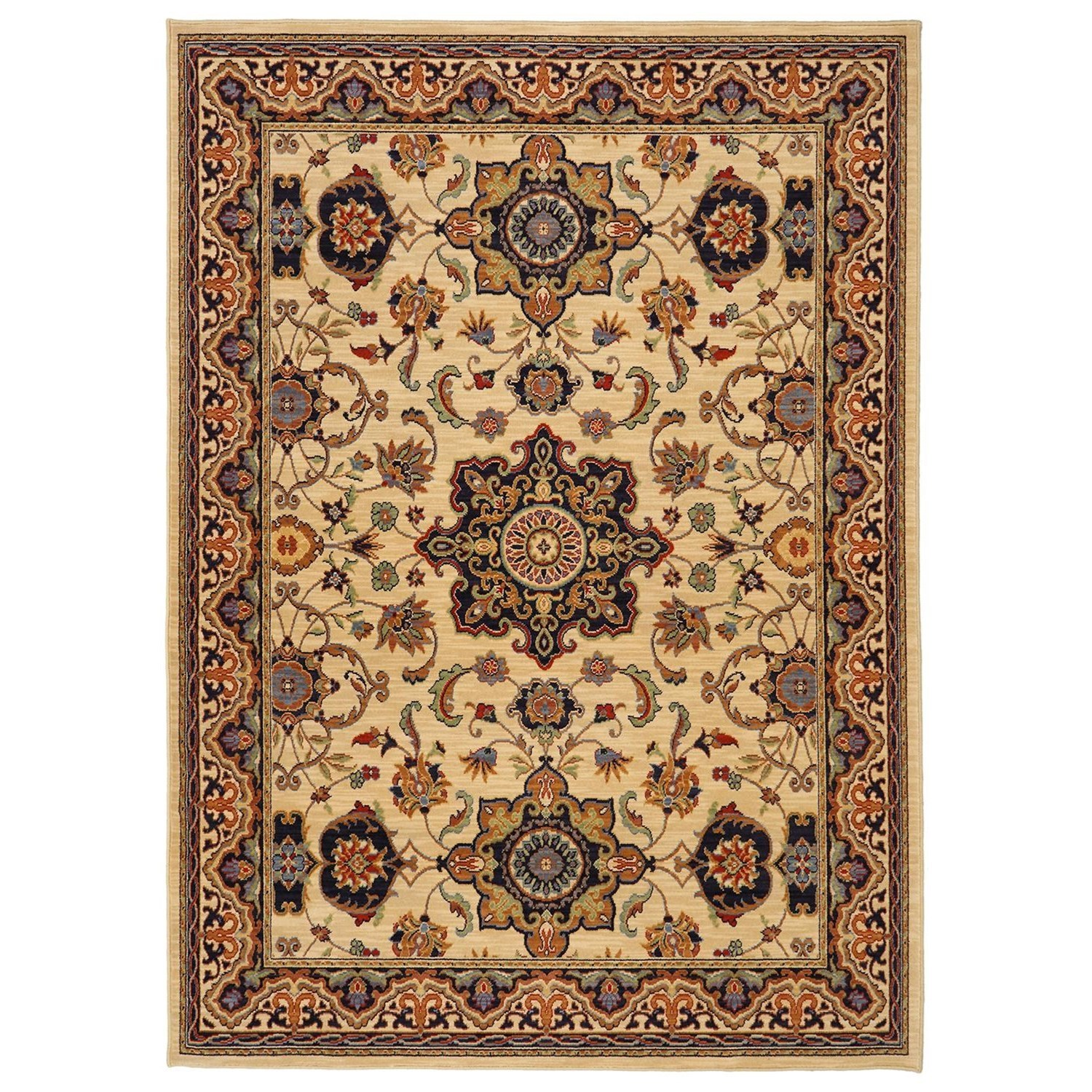 Karastan Rugs English Manor 8'x10'5 Manchester Ivory Rug - Item Number: 02120 00602 096125