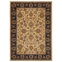 Karastan Rugs English Manor 3'8x5' Oxford Ivory Rug - Item Number: 02120 00604 044060