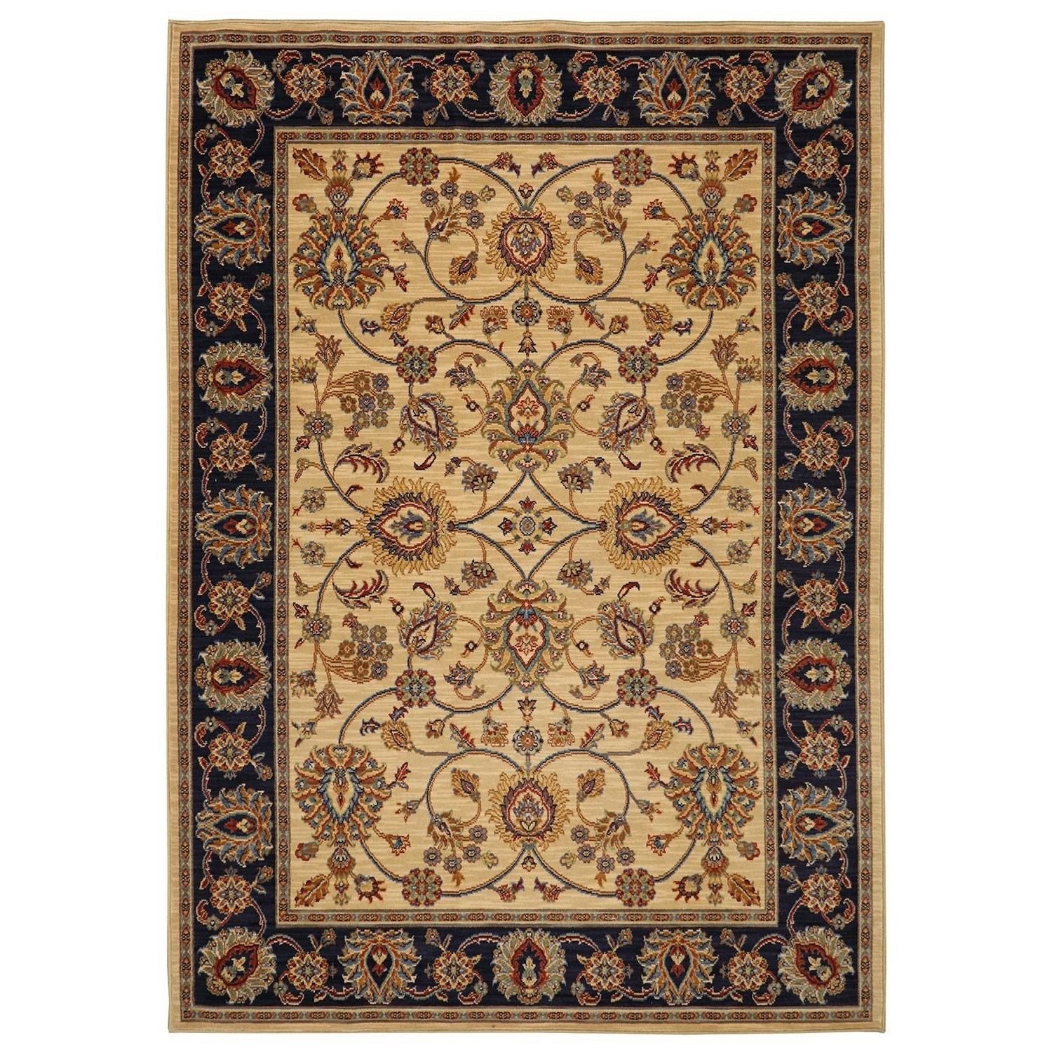 Karastan Rugs English Manor 9'2x13' Oxford Ivory Rug - Item Number: 02120 00604 110156