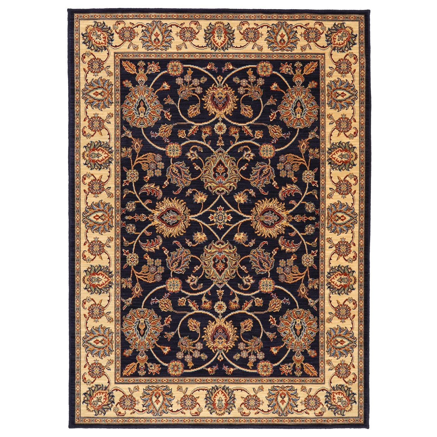 Karastan Rugs English Manor 2'6x4' Oxford Navy Rug - Item Number: 02120 00605 030048