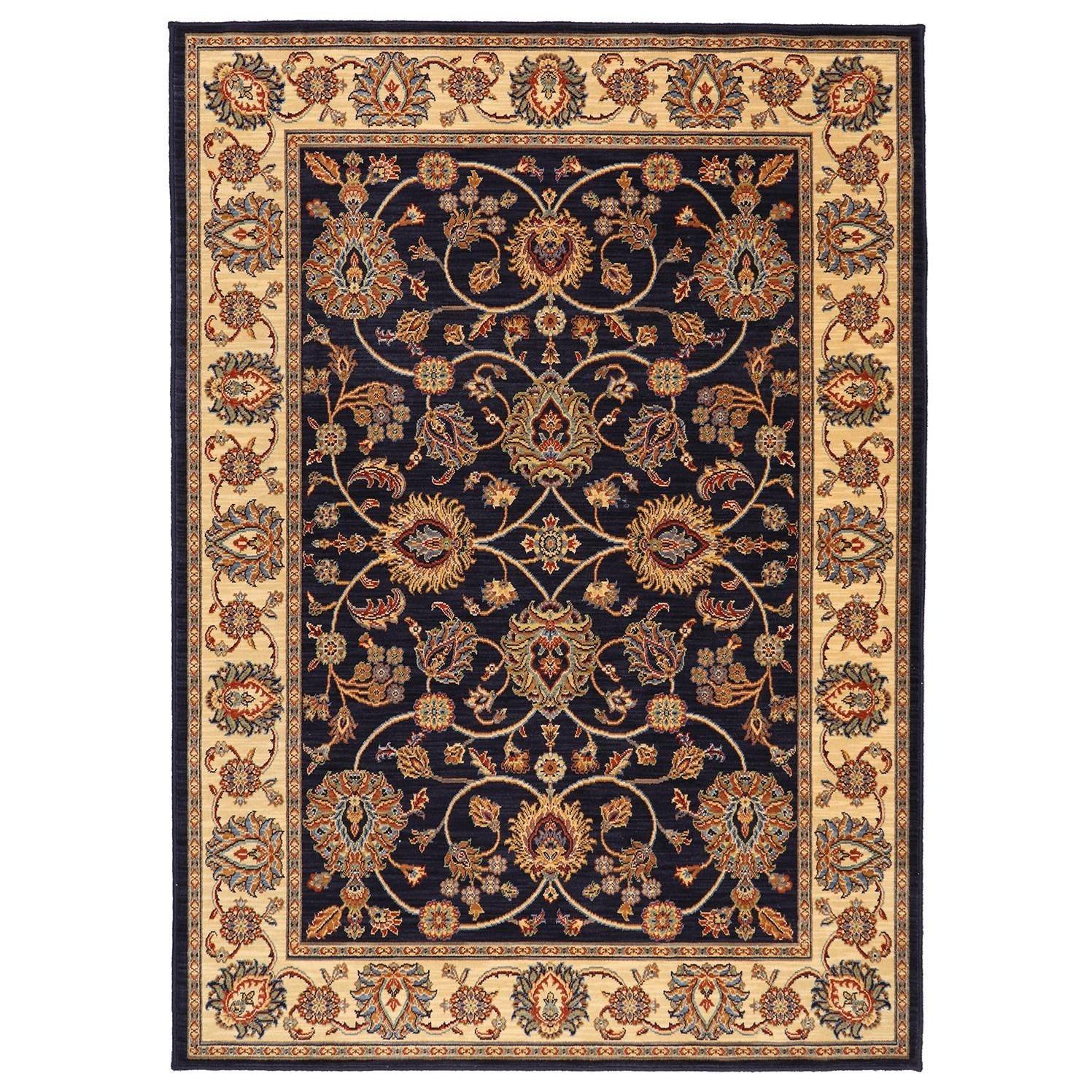 Karastan Rugs English Manor 2'6x12' Oxford Navy Rug Runner - Item Number: 02120 00605 030144
