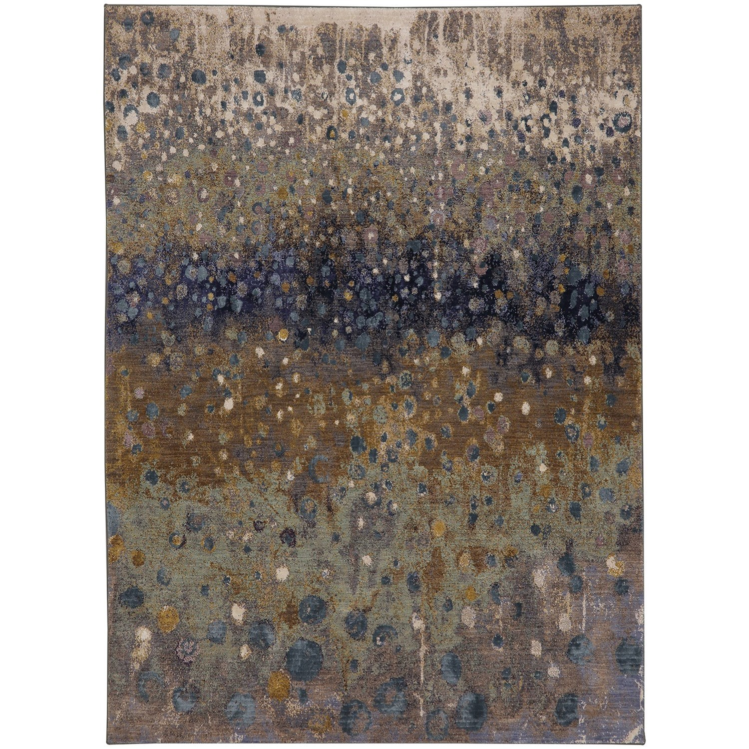 "9' 6""x12' 11"" Rectangle Abstract Area Rug"
