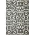Karastan Rugs Euphoria 3'6x5'6 Fasney Ash Grey Rug - Item Number: 90260 5913 042066