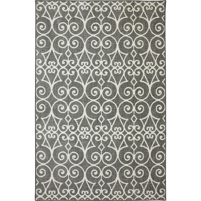 Karastan Rugs Euphoria 9'6x12'11 Fasney Ash Grey Rug - Item Number: 90260 5913 114155