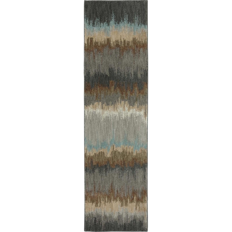 Karastan Rugs Euphoria 2'1x7'10 Cashel Abyss Blue Rug Runner - Item Number: 90261 880 025094
