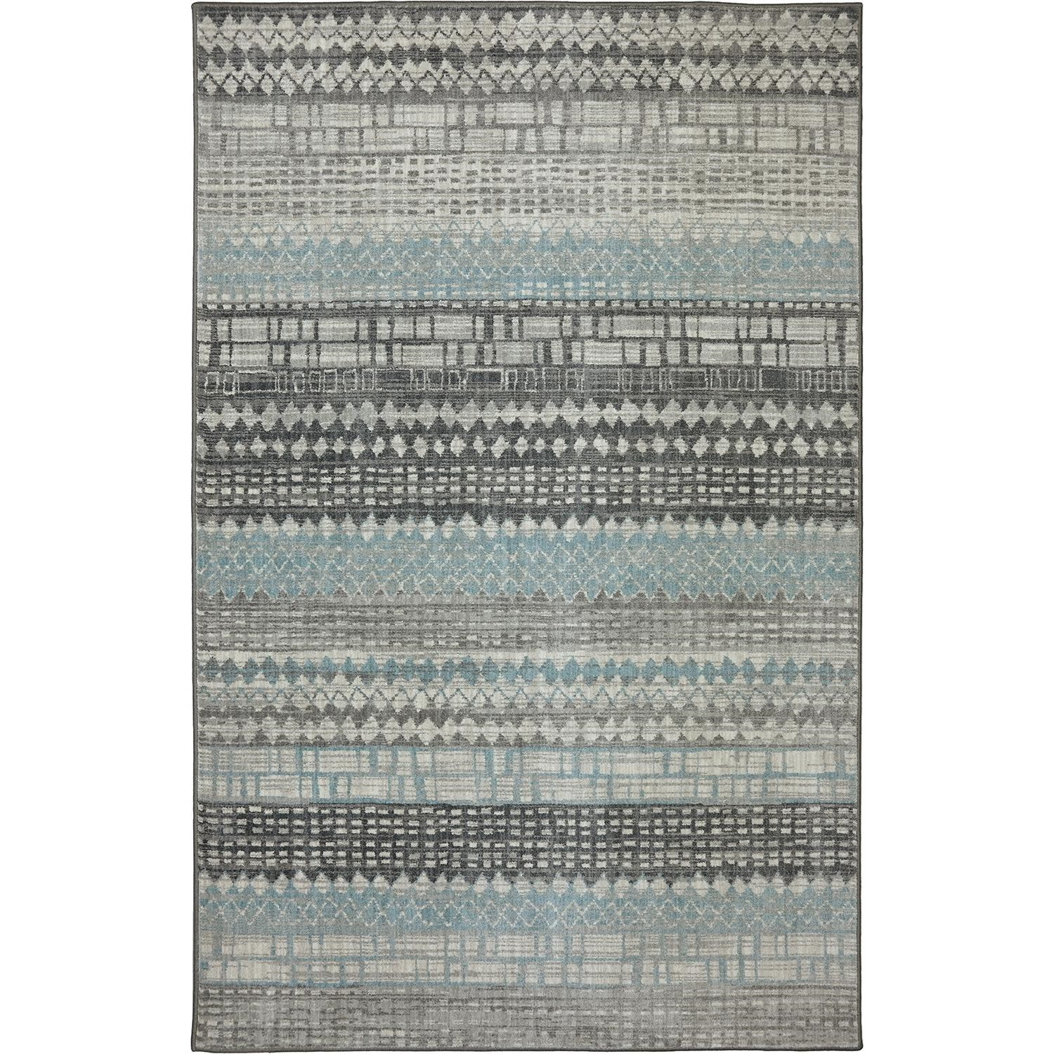 Karastan Rugs Euphoria 5'3x7'10 Eddleston Ash Grey Rug - Item Number: 90263 5913 063094