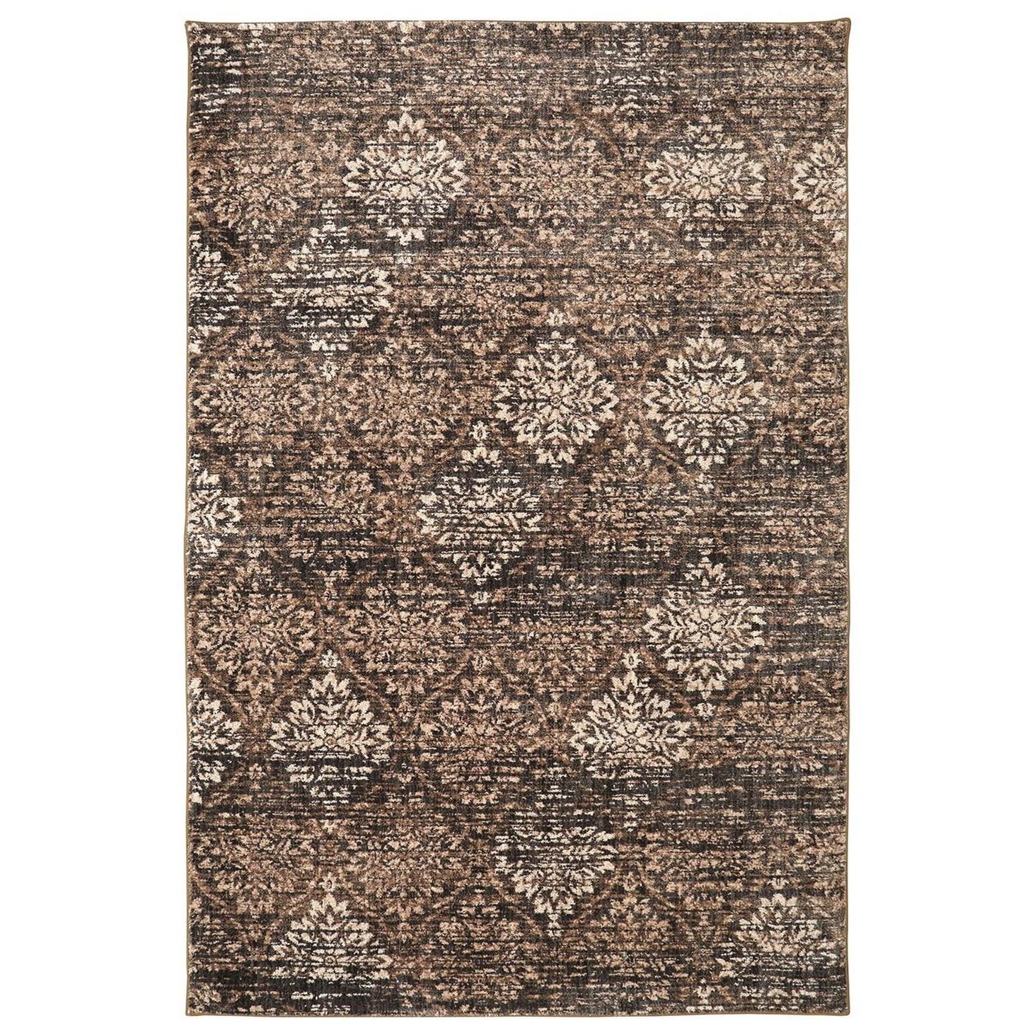 Karastan Rugs Euphoria 9'6x12'11 Wexford Brown Rug - Item Number: 90265 80175 114155