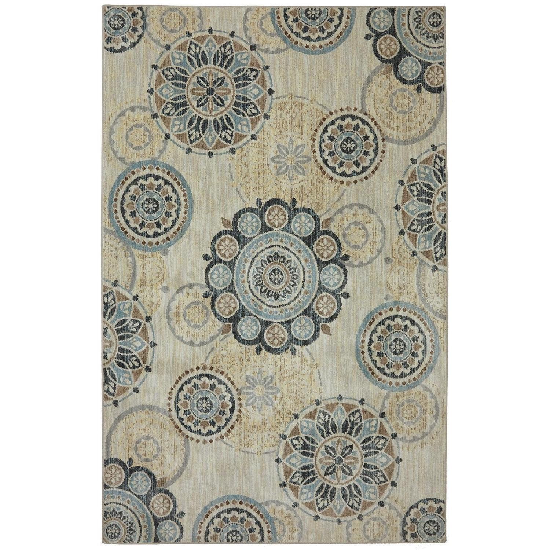Karastan Rugs Euphoria 3'6x5'6 Carron Sand Stone Rug - Item Number: 90268 471 042066