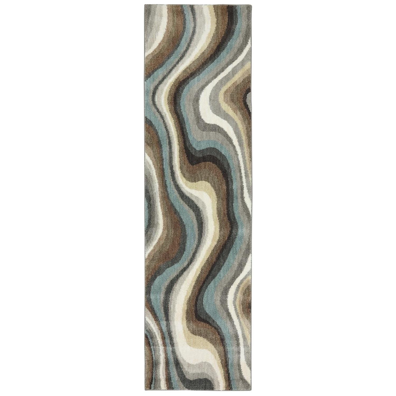 Karastan Rugs Euphoria 2'1x7'10 Larkhall Granite Rug Runner - Item Number: 90269 80100 025094