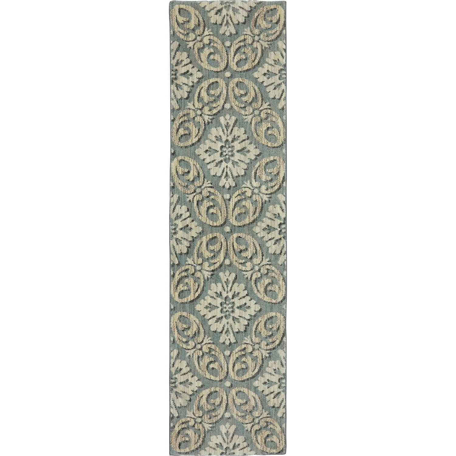 Karastan Rugs Euphoria 2'1x7'10 Findon Bay Blue Rug Runner - Item Number: 90271 55002 025094