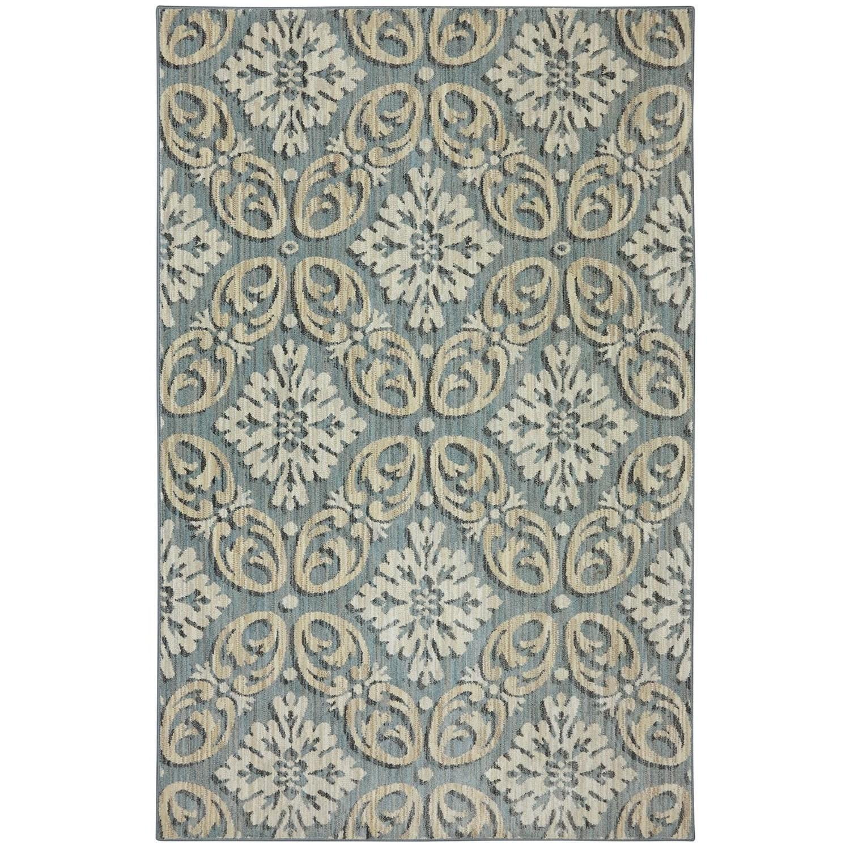 Karastan Rugs Euphoria 3'6x5'6 Findon Bay Blue Rug - Item Number: 90271 55002 042066