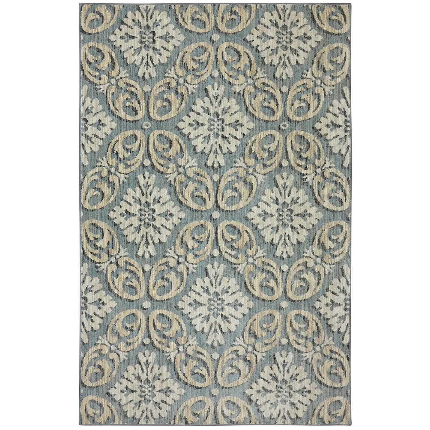 Karastan Rugs Euphoria 5'3x7'10 Findon Bay Blue Rug - Item Number: 90271 55002 063094