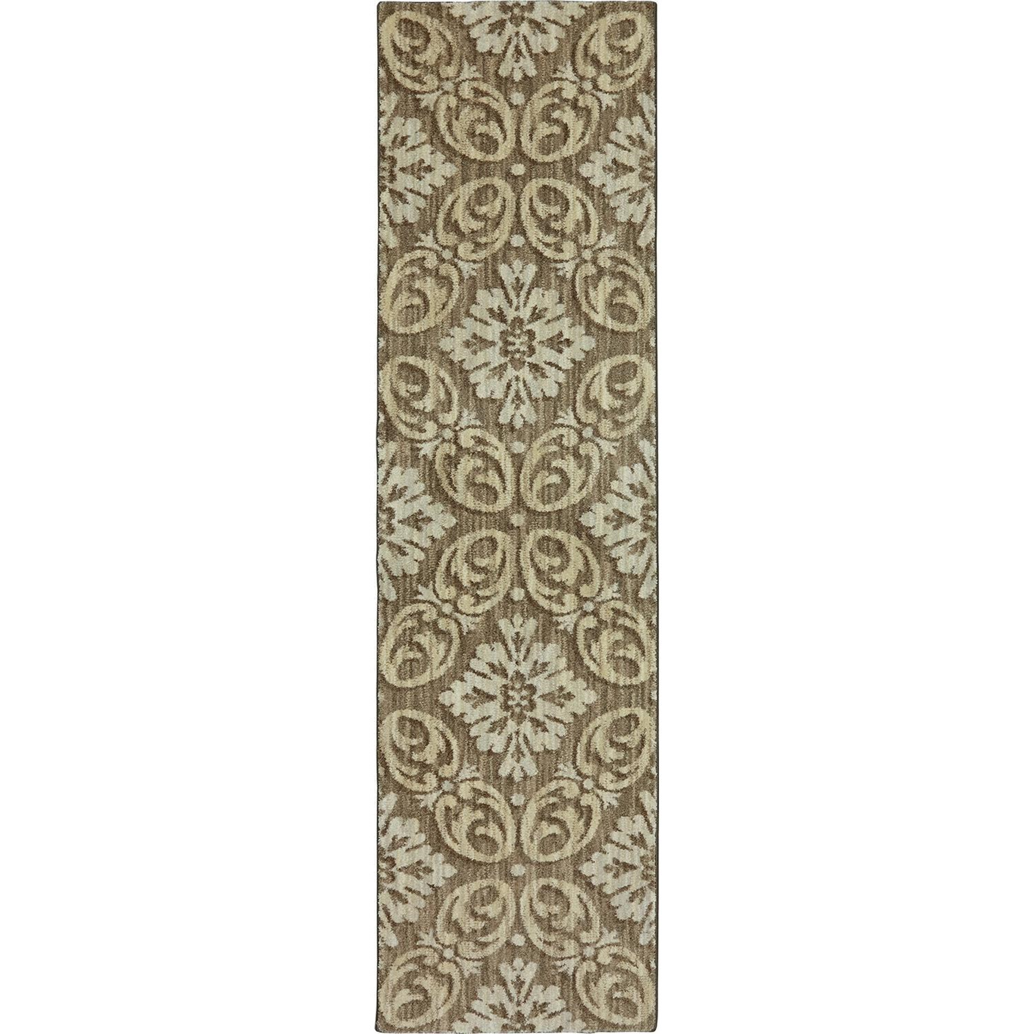Karastan Rugs Euphoria 2'1x7'10 Findon Brown Rug Runner - Item Number: 90271 80062 025094
