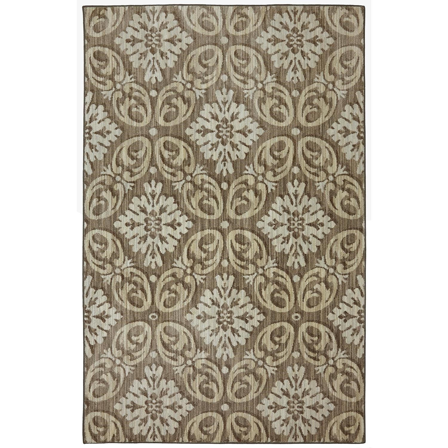 Karastan Rugs Euphoria 3'6x5'6 Findon Brown Rug - Item Number: 90271 80062 042066