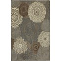 Karastan Rugs Euphoria 8'x11' Mossat Brown Rug - Item Number: 90273 80062 096132
