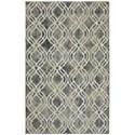 Karastan Rugs Euphoria 3'6x5'6 Potterton Ash Grey Rug - Item Number: 90274 5913 042066