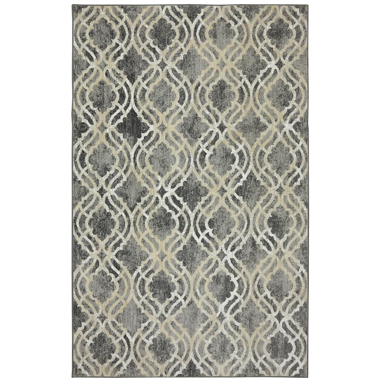 Karastan Rugs Euphoria 8'x11' Potterton Ash Grey Rug - Item Number: 90274 5913 096132