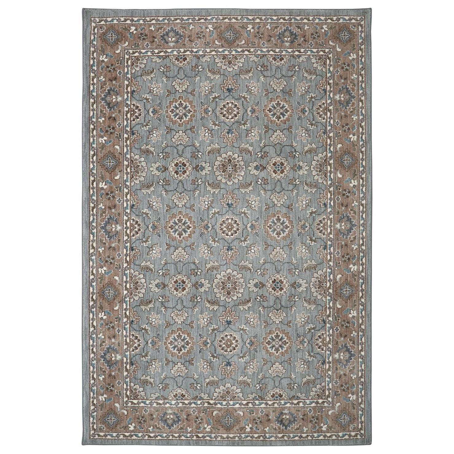 Karastan Rugs Euphoria 3'6x5'6 Leinster Willow Grey Rug - Item Number: 90641 90075 042066