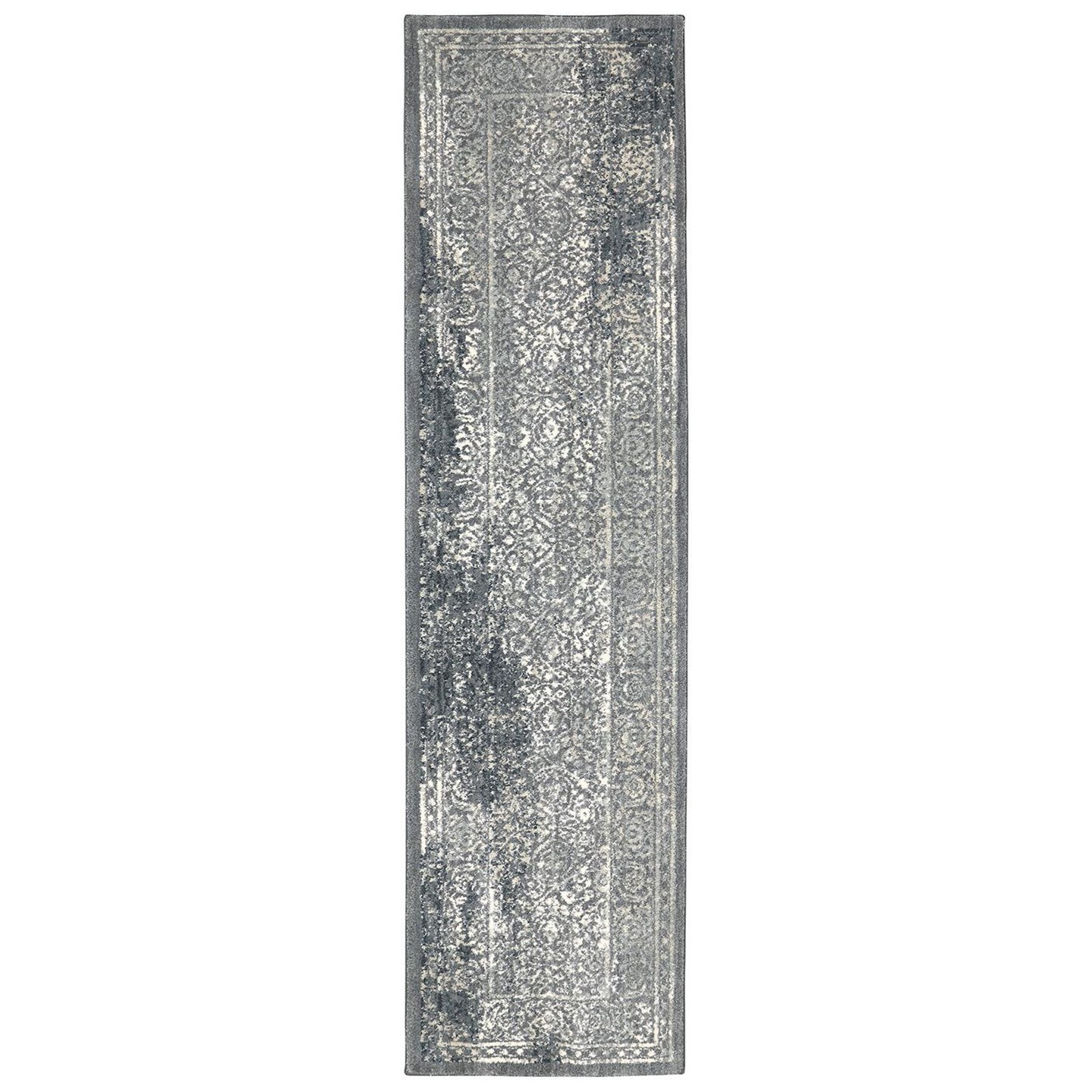 Karastan Rugs Euphoria 2'1x7'10 Ayr Willow Grey Rug Runner - Item Number: 90643 90075 025094